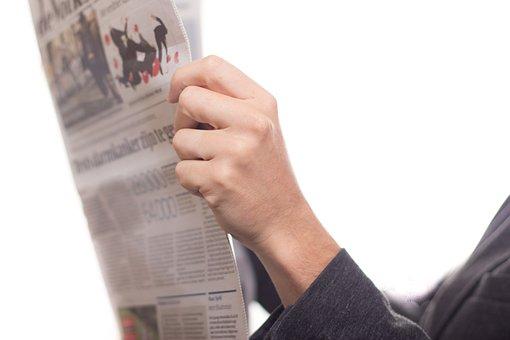 新聞, ニュース, 読み取り, テキスト, ジャーナル, 詰まらせる, 大人