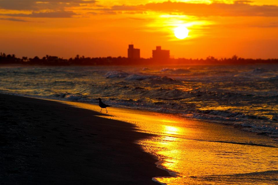 Photo gratuite sun coucher de soleil mer ciel image gratuite sur pixabay 1075897 - Coucher de soleil en mer ...