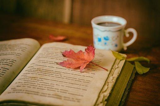 Blätter, Bücher, Farbe, Kaffee, Pokal