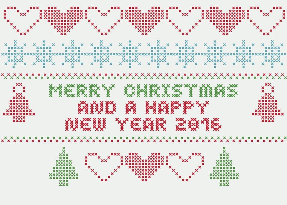 Cross Stitch Alphabet Charts: Christmas Border - Free images on Pixabay,Chart