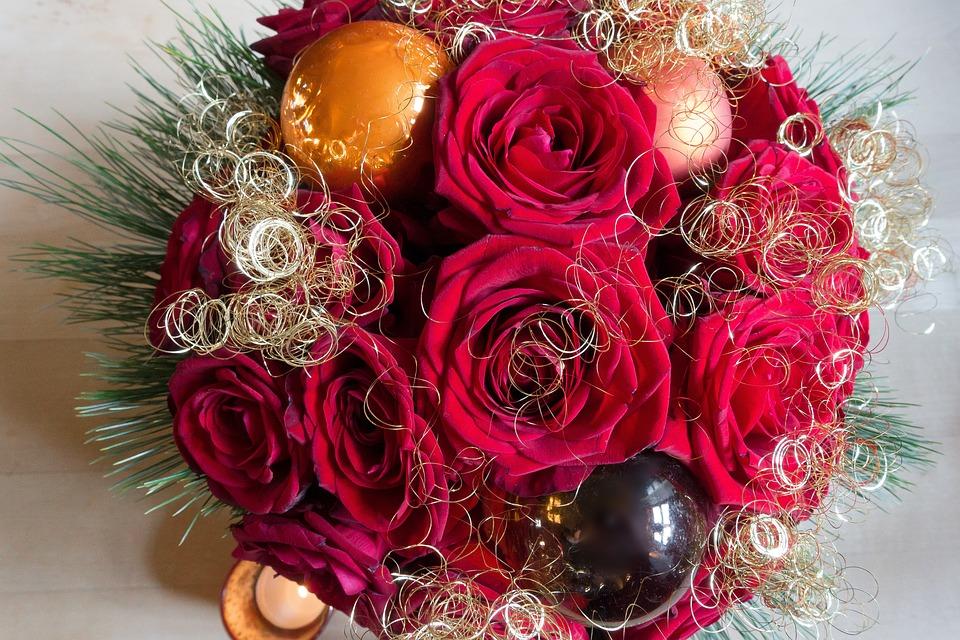 Rose Weihnachten Gesteck · Kostenloses Foto auf Pixabay