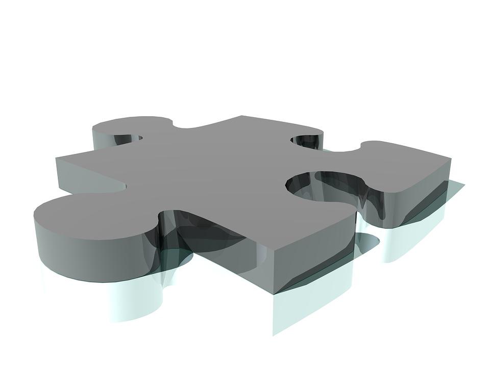 Jigsaw 3d Puzzle Piece Render