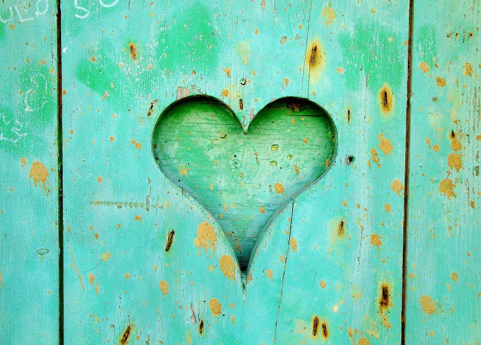 Heart Wood Love Wooden Old Background