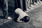 dziecko, modląc, muzułmanin