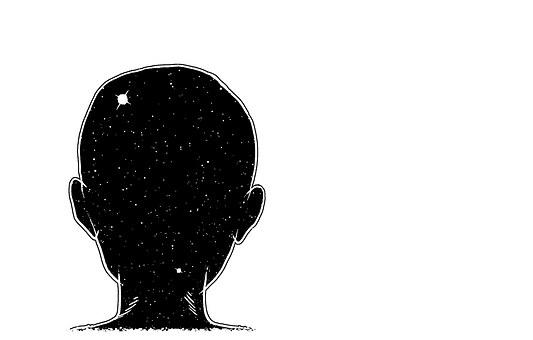 Nape, Head, Child, Cosmos, Painting