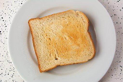 Brindis Comer Desayuno Pan Blanco Alimento