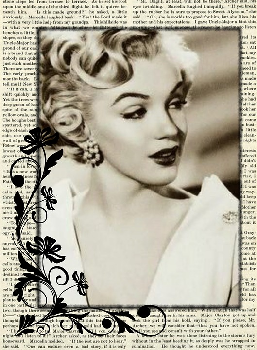 Bien connu Illustration gratuite: Vintage, Actrice, Collage, Marilyn - Image  CA84