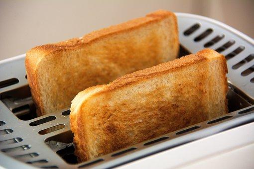 パン, トースター, 食品, トースト, 白パン, トーストのスライス, 朝食