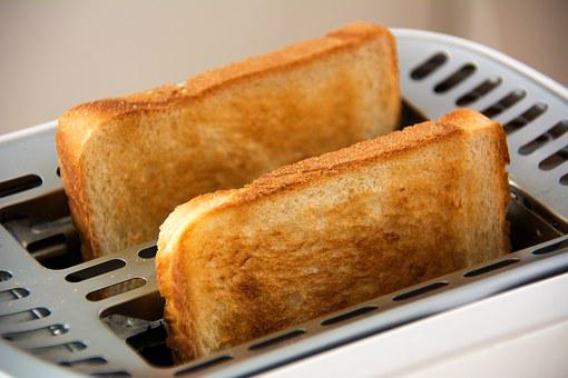 Toast, Toaster, Food, White Bread