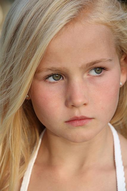free photo blonde girl seriously portrait free image