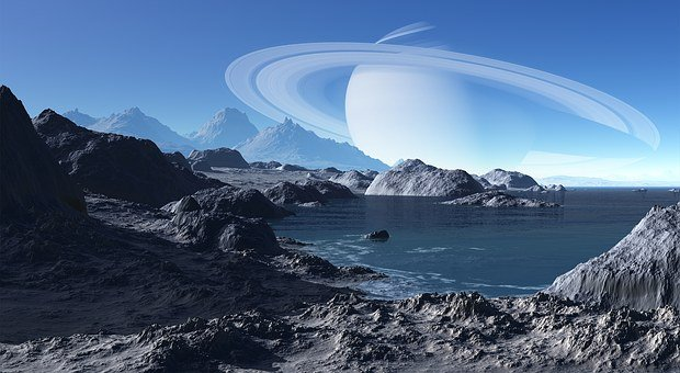 Saturn, Landscape, Terrain, Water
