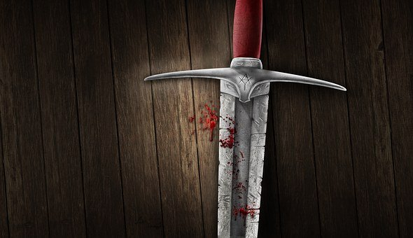 Sword Blood Background Medieval Image Mani