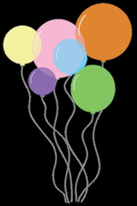 Kostenlose Illustration: Luftballons, Feier, Geburtstag ...
