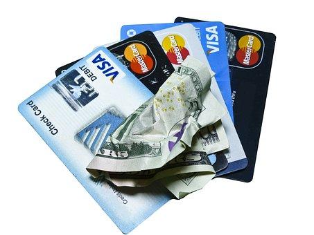クレジット カード, お金, 現金, クレジット, カード, プラスチック