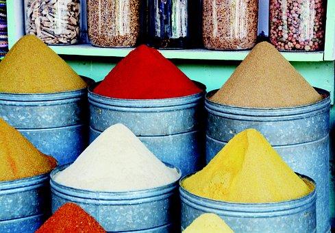 Spices, Farbenspiel, Market, Marrakech