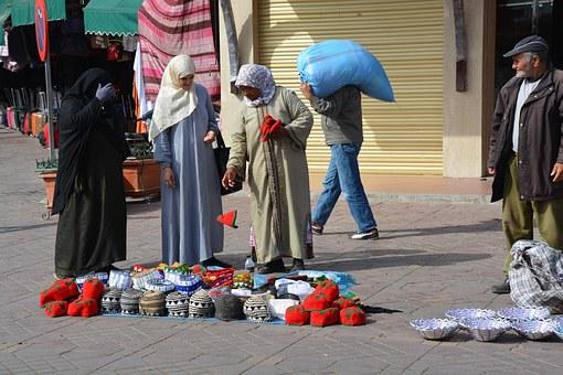 Escena De La Calle Marruecos Venta Ambulan