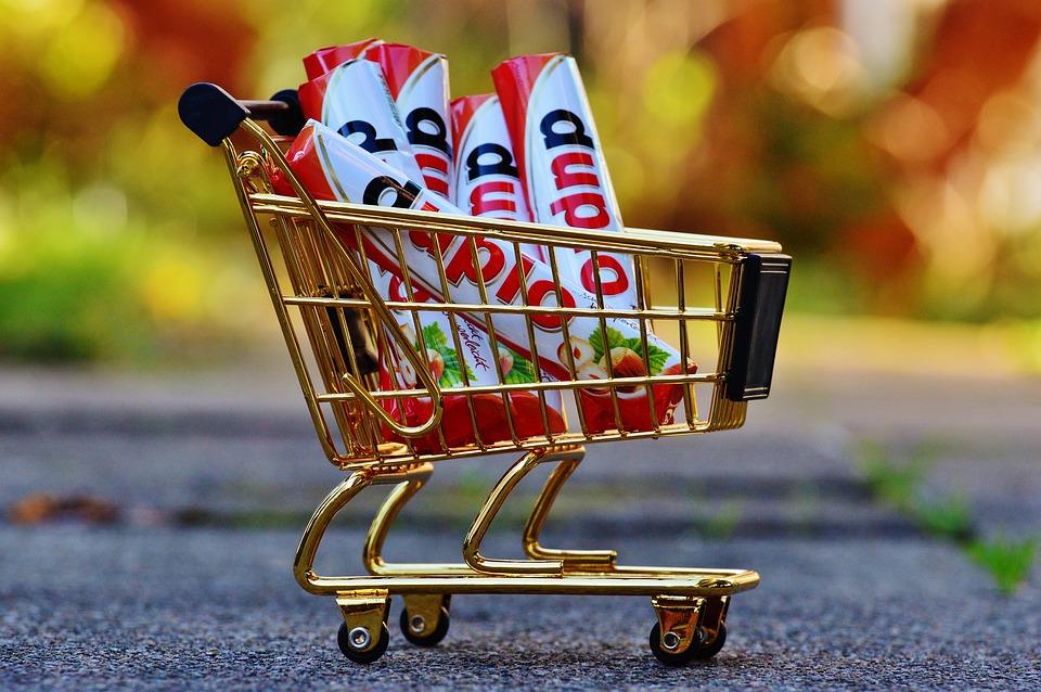 ショッピング カート, ショッピング, 購入, キャンディ, トロリー, ショッピングリスト, 食品, 一覧