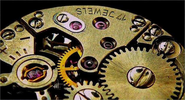 クロック, 運動, 歯車, ギア, 伝送, 車輪, お互いに, ダイナミクス