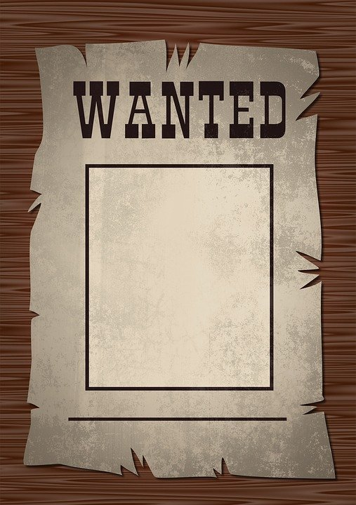 Free illustration Wanted Poster Wanted Poster West Free