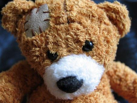 Plush Teddy Bear, Teddy Bear, Injury, Spiritual Loneliness, Disconnected from reality, physical health