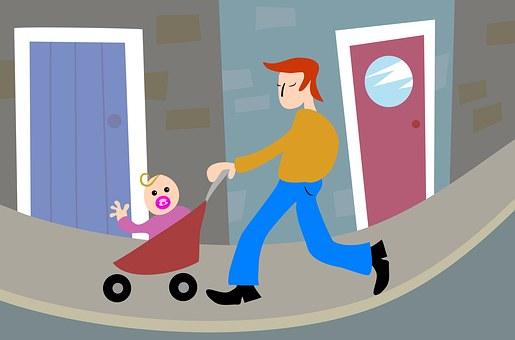 人, 子, 子供, 家族, 親, 単一の親, 父, お父さん, 漫画, 小児期