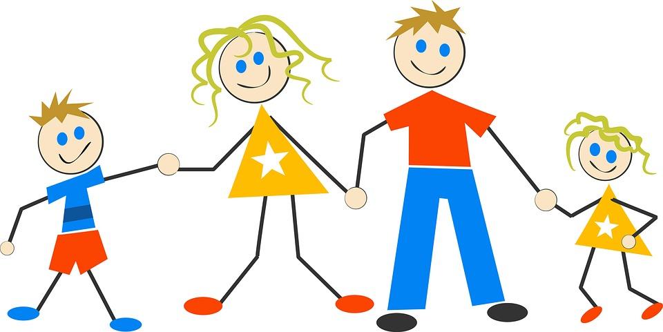 happy family cartoon kids children family happy - Free Children Cartoon