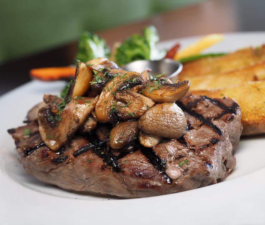 ステーキ、サーロイン、肉、牛肉、食品、切り身、テンダーロイン