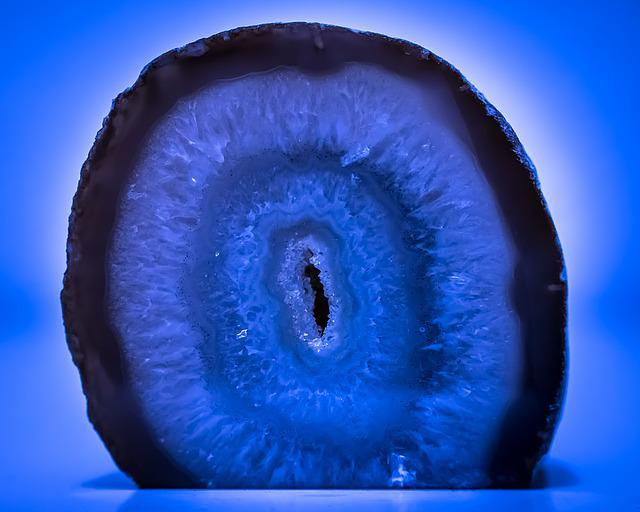 Free Photo Agate Gem Druze Stone Blue Free Image On