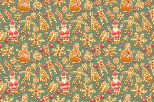 Pattern, Seamless, Gingerbread