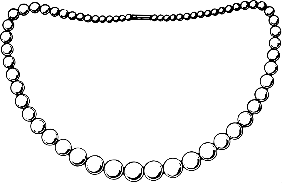graphic pearl free en box necklace pearls casket case on jewel pixabay vector