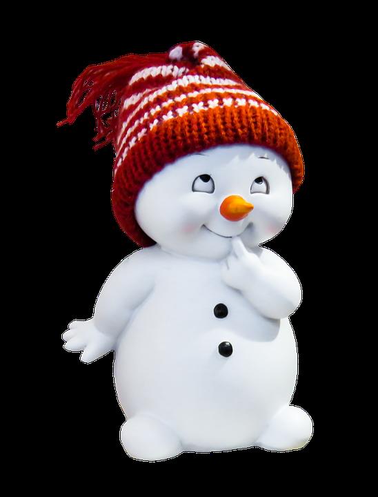 Free illustration snow man figure winter isolated - Bonhomme de neige decoration exterieure ...