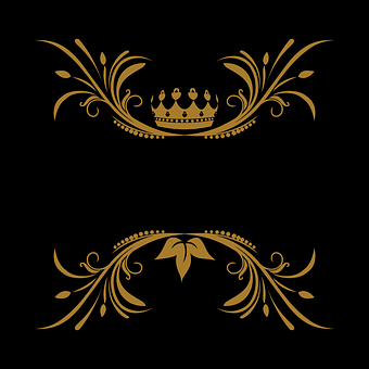 Vector Arabesque Floral King Crown Lo
