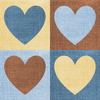 Stoff, Herzen, Liebe, Quadranten, Textil