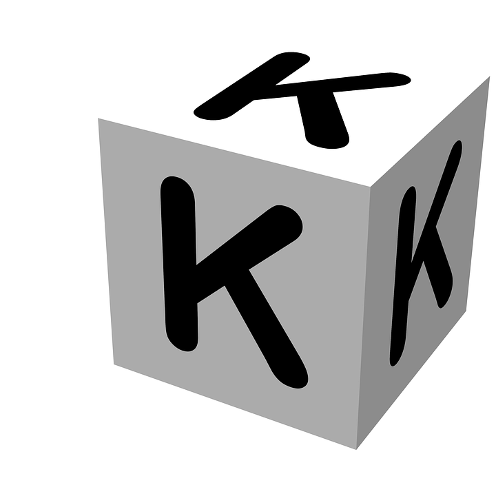 letter block k wooden alphabet