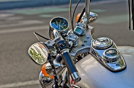 オートバイ, インテリアリア ビュー ミラー, ハンドルバー, 自転車置き