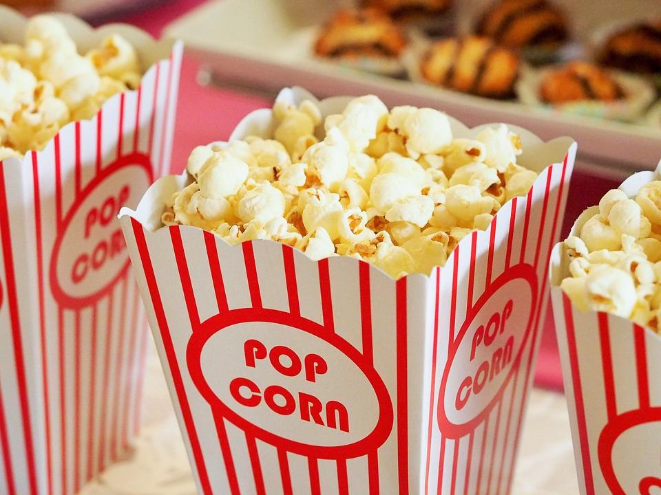 Popcorn, Mat, Kartong, Behållare, Filmer, Bio