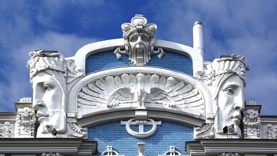 Free photo riga housewife art nouveau free image on for Architecture art nouveau