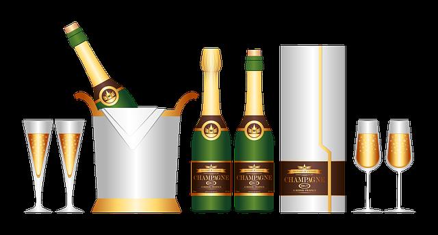 Free Illustration Champagne Set Drink Set Free Image
