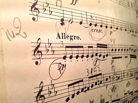 Violin, Music, Score, Mozart