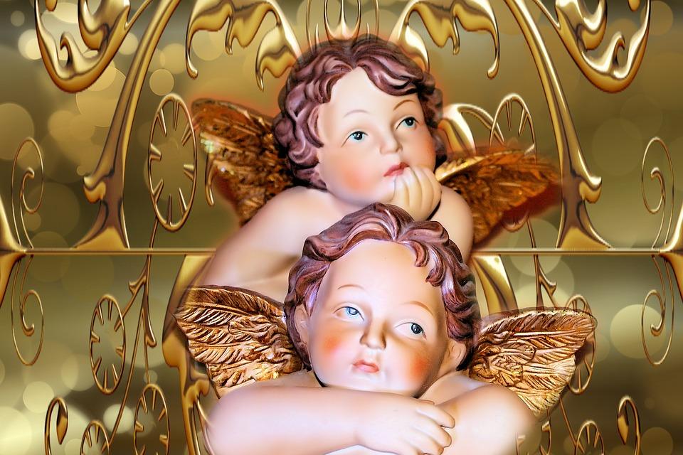 Célèbre Illustration gratuite: Angel, Arrière Plan, Fond D'Écran - Image  EB46