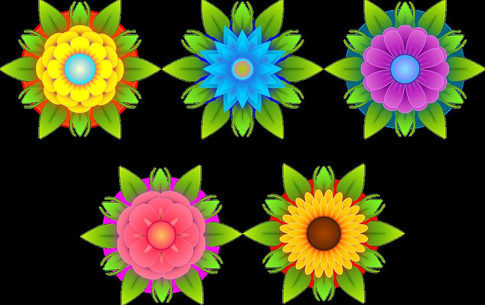 Fleurs Stylisees Nature Image Gratuite Sur Pixabay