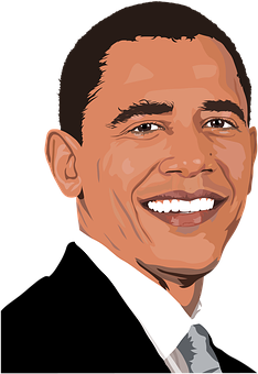 Stock Vector March A Caricature Portrait Of The President Of Usa Barack Obama