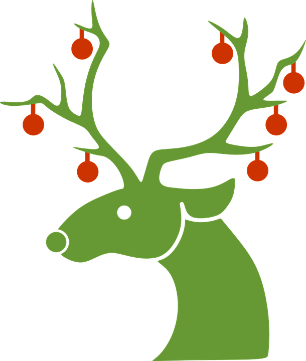 reindeer christmas winter free vector graphic on pixabay