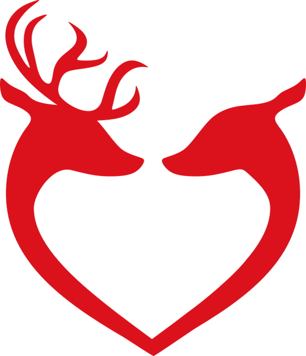 Reindeer Love Christmas · Free vector graphic on Pixabay