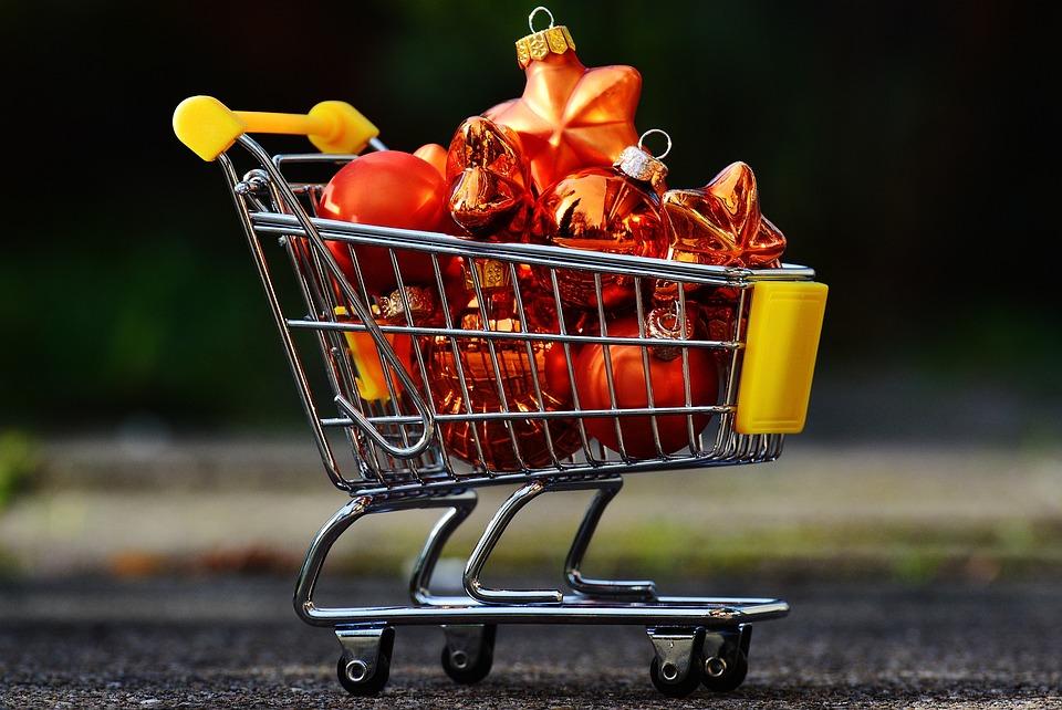 Weihnachtseinkauf Einkaufswagen · Kostenloses Foto auf Pixabay