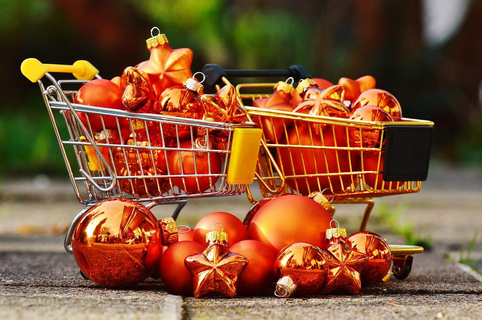 Weihnachtseinkauf Einkaufswägen · Kostenloses Foto auf Pixabay