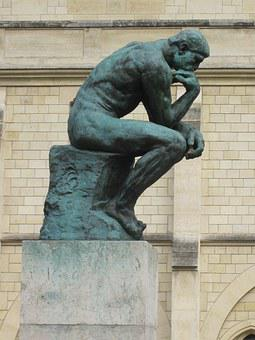 The Thinker, Bronze, Sculpture, Rodin