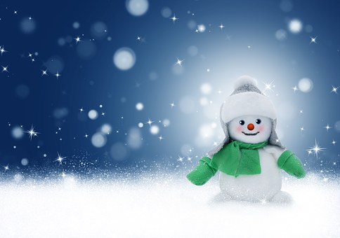 Snowman Snow Winter Christmas Background C