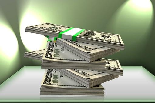 Uang, Dolar, Stack, Dana, Keuangan