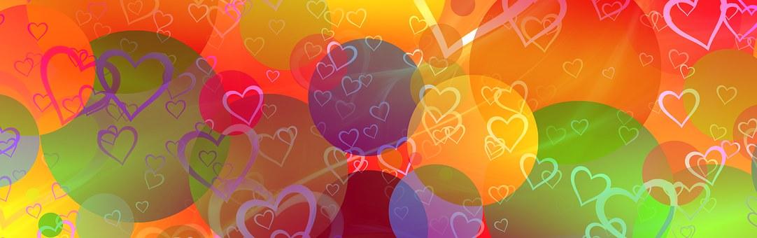バナー, ヘッダー, 中心部, 愛, サークル, ポイント, フレンドリーです